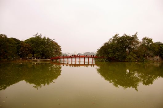Huc Bridge at Hoan Kiem Lake