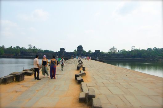 Angkor Wat and the other tourists